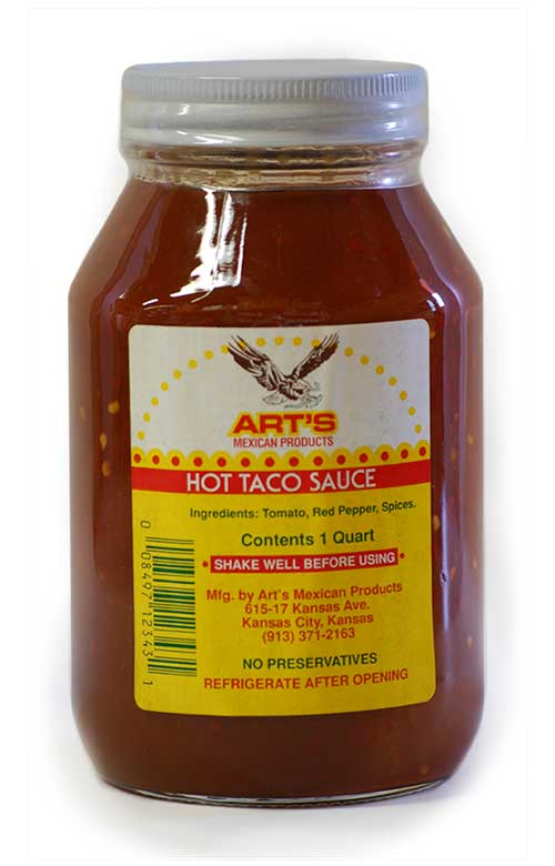 Mexican Taco Sauce And Enchilada Sauce Art S Mexican Food Products Serving Kansas City Metro Area